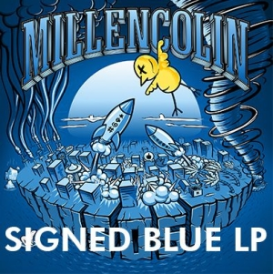 Millencolin - Sos (Blue Vinyl) - Signed LP in the group VINYL / Upcoming releases / Rock at Bengans Skivbutik AB (3596018)