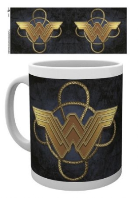 Wonder Woman - Wonder Woman Gold Logo Mug in the group Julspecial19 at Bengans Skivbutik AB (3596729)