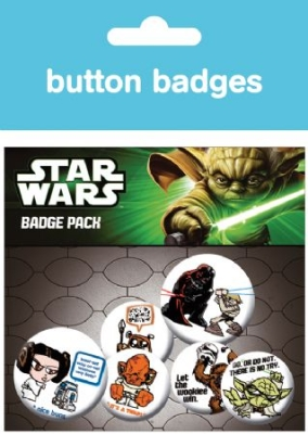 STAR WARS - Characters button badges 6 st in the group Julspecial19 at Bengans Skivbutik AB (927233)
