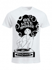 Bengans Dj Girl - T-Shirt White