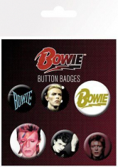 David Bowie - David Bowie Mix Badge Pack Pin