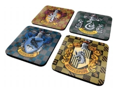 Coaster Set Drink Mats - Harry Potter Shields 4 Coaster Set