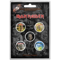 Iron Maiden - Button Badge Pack: The Faces of Eddie