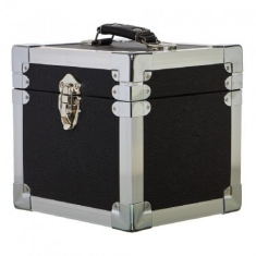 Vinyl Storage - 7 Inch 50 Record Storge Carry Case - Black