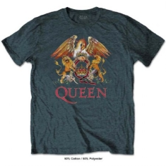 Queen - Queen Men's Tee: Classic Crest