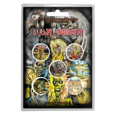 Iron Maiden - IRON MAIDEN BUTTON BADGE PACK: EARLY ALBUMS