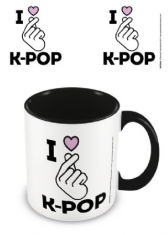 K-POP - I Love K-Pop - Black Coloured Inner Mug