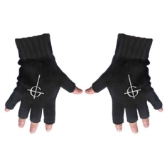 Ghost - Fingerless Gloves: Ghost Cross