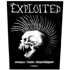 The Exploited - BACK PATCH: BEAT THE BASTARDS (LOOSE)