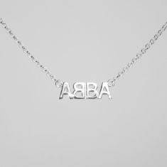 Abba - Silver Necklace Abba Logo